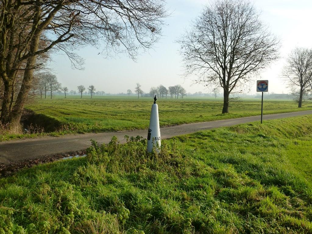 Klein stukje over de grens met België
