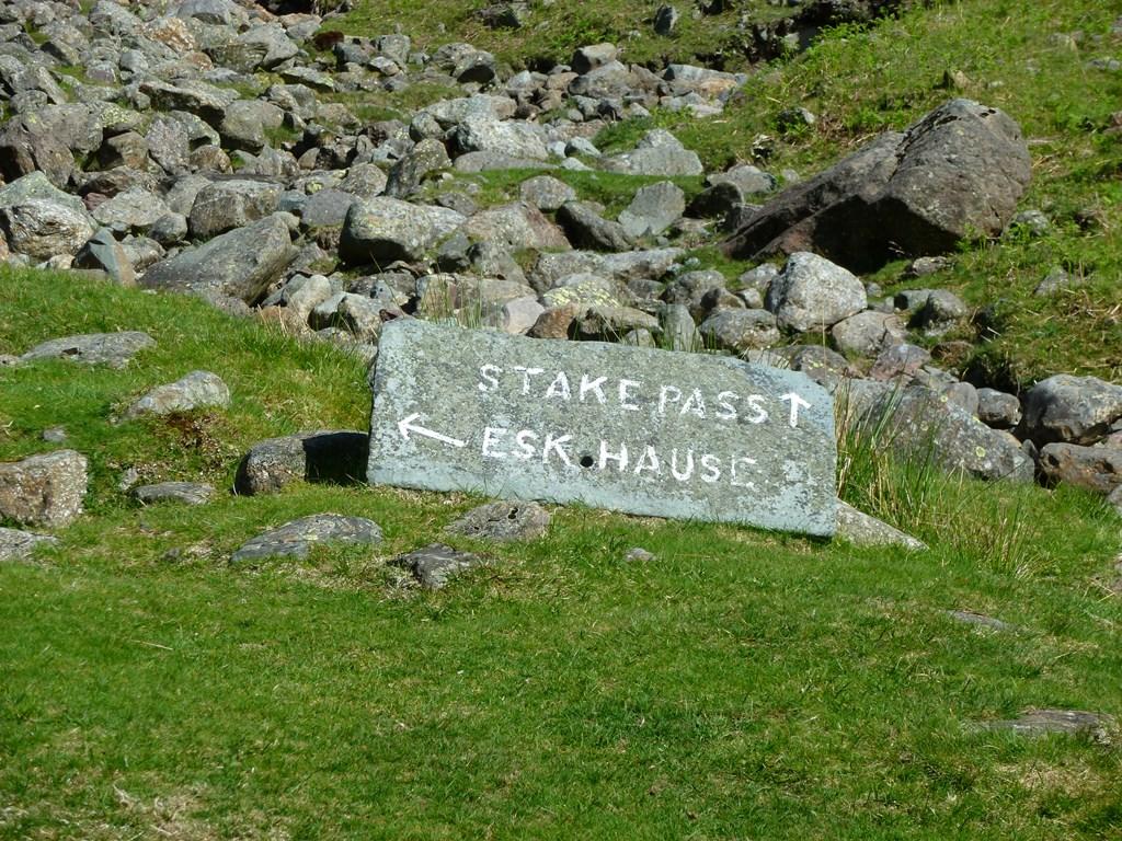 Start beklimming Stake Pass