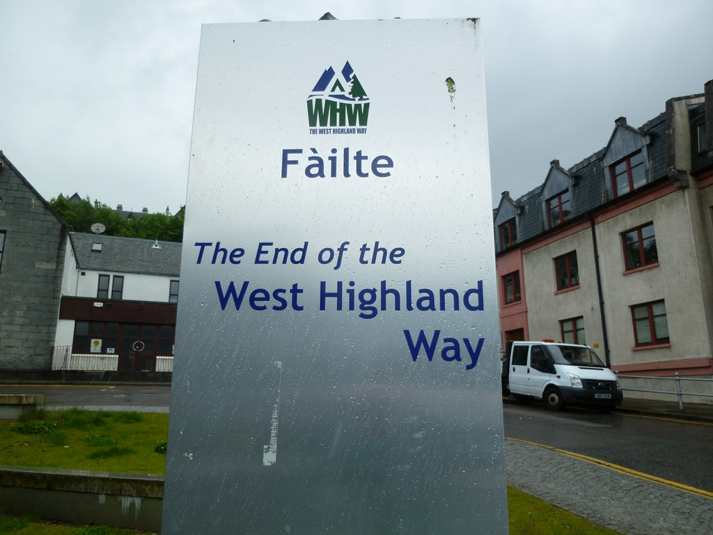 Huidig einde West Highland Way