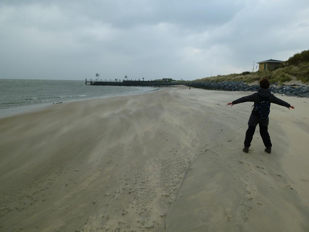 Strand bij de jachthaven