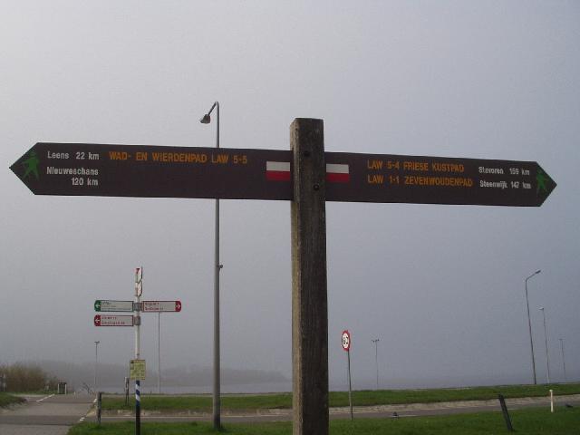 Startpunt bij Lauwersoog